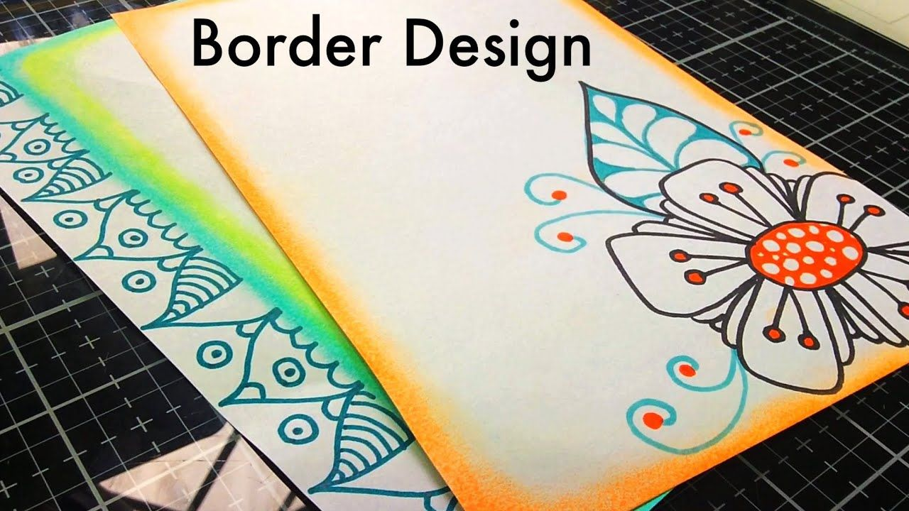 Assignment Front Page Design Simple Paper Borders Border