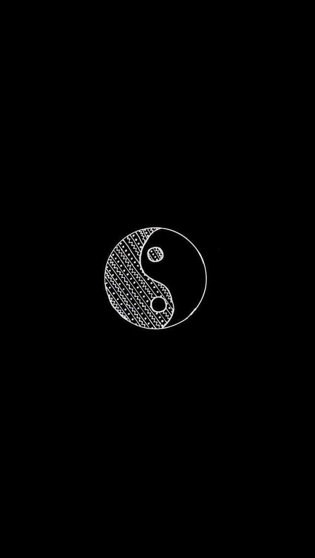 Yin Yang minimalist lockscreen wallpaper  Art  Ying yang wallpaper, Black wallpaper e Lock
