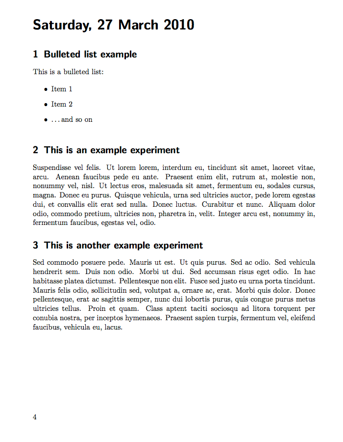 Daily Laboratory Book Template  Latex Documents