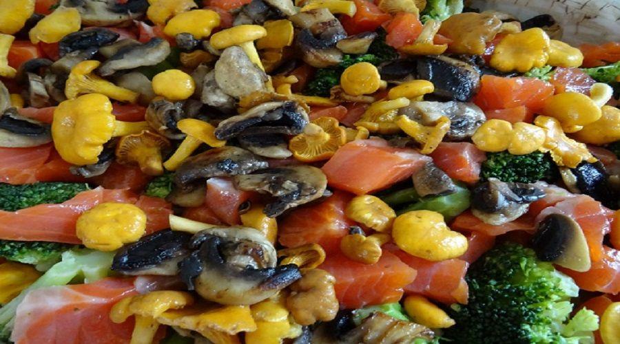 Lachsauflauf aus der Low Carb- / LCHF-  und ketogenen Küche