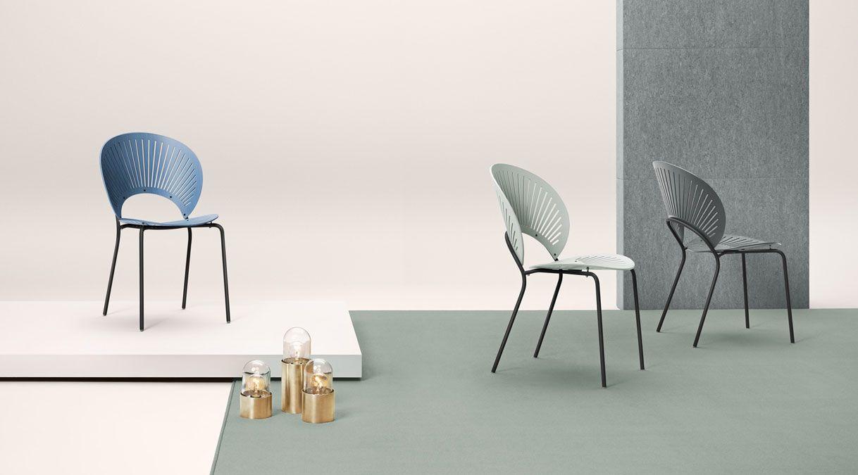 Sedie Blu ~ Sedia impilabile in blu verde e grigio stackable chair blue