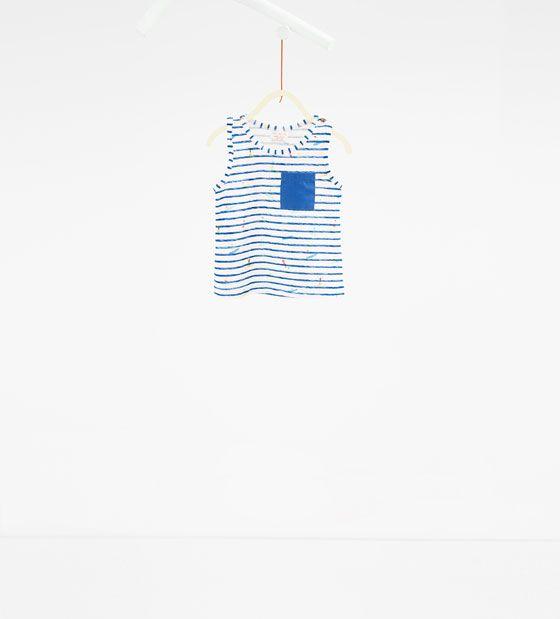 ZARA - KINDER - Shirt mit Streifen und Surfern