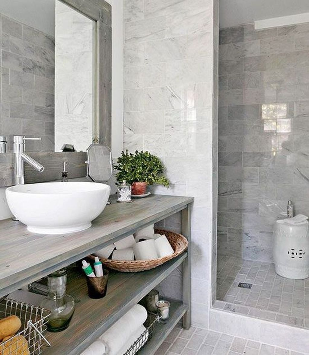 46 Adorable Modern Grey And White Bathroom Design Ideas | Bathroom ...