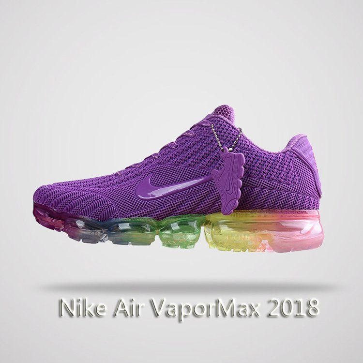 dd3af62fa70 Nike Air Vapormax 2018 Women Running Shoes Purple Colorful