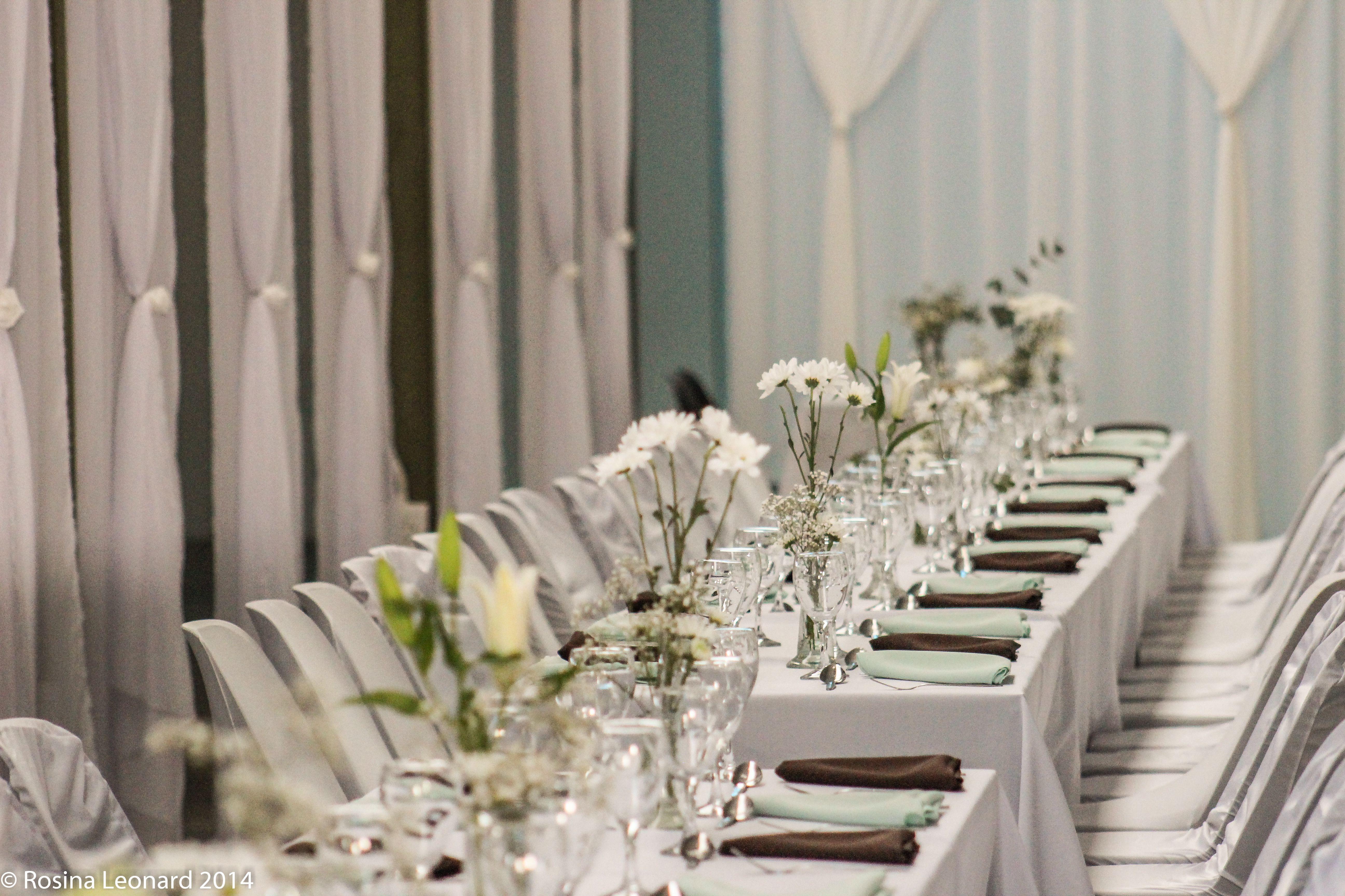 Wedding decorations for hall  Wedding decor by socialbutterfly Ongwediva Trade fair hall