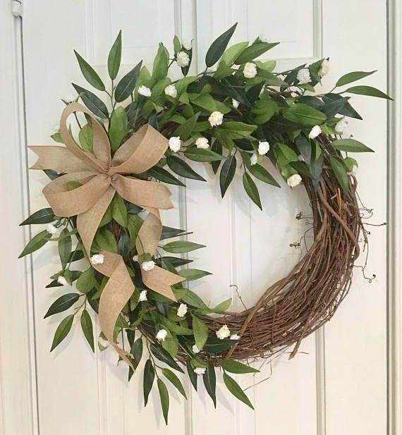 Photo of All Season Wreath Grapevine Weath Spring Wreath Summer