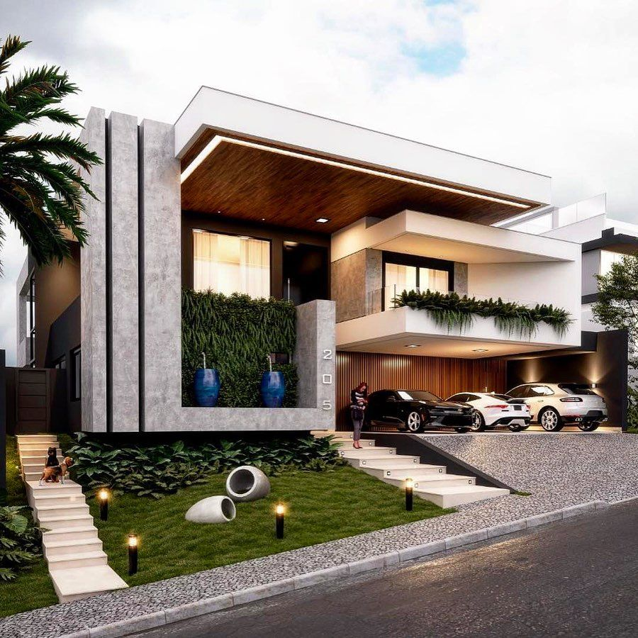 Modern Exteriorwall Designs: Mega Mansions S Instagram Post: What Do You Think Of This