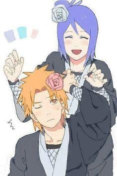 Naruto Shippuden Yahiko and Konan =w=
