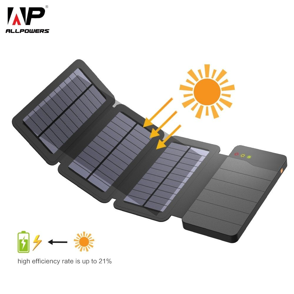 Like And Share With Your Friends Solar Power Bank 10000mah Allpowers Portable Solar Phone Charger E Solar Power Bank Solar Phone Chargers Solar Power Charger