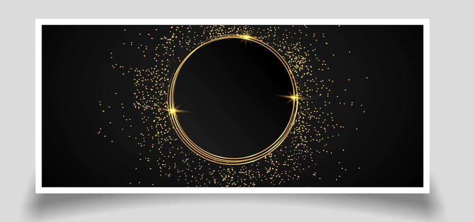 Cornice Circolare Scintillante Dorata Di Lusso Sfondo Nero Cornici Dorate Sfondi Sfondi Neri