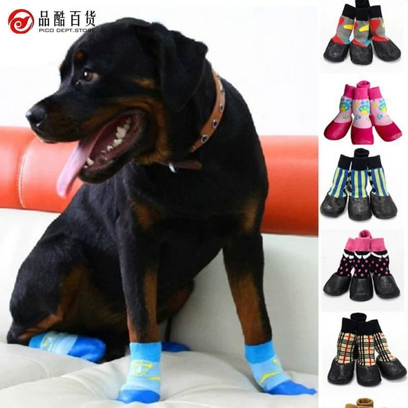 2018 Fashion Dog Pet Shoes Boots Waterproof Socks Outdoor Anti