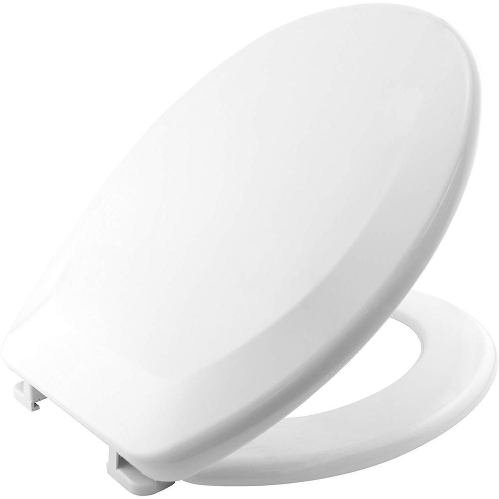 Bathroom White Toilet Seat Adjustable Plastic Hinges Easy Fit With New Cover Lid Toilet Seat Plastic Hinges White Toilet Seats