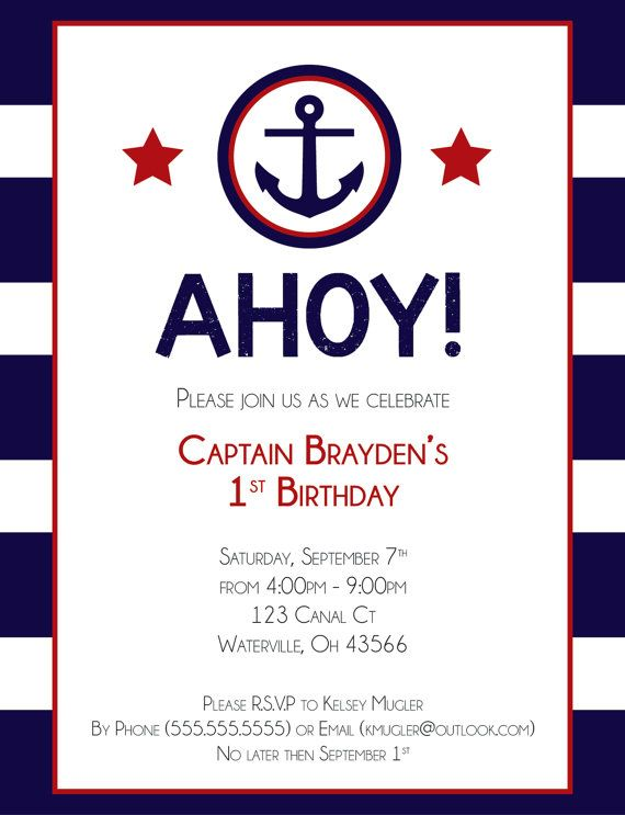 Graduation Invitations Nautical Party Fabulous Birthday Hey I Found This Really Awesome Etsy Listing At