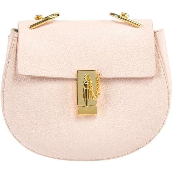 Chloe Drew Shoulder Bag (18.659.850 IDR) ❤ liked on Polyvore featuring bags, handbags, shoulder bags, women, pink shoulder handbags, purse shoulder bag, special occasion handbags, man bag and evening purses