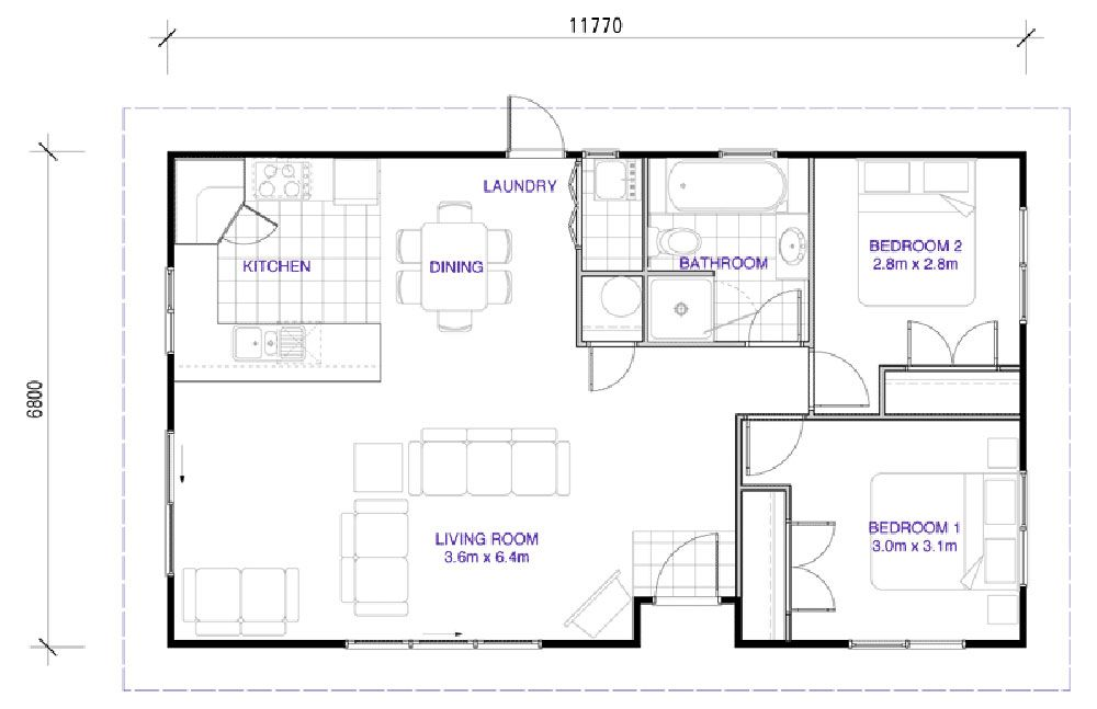 latitude homes nz 80 hunter 80m2 house plans pinterest