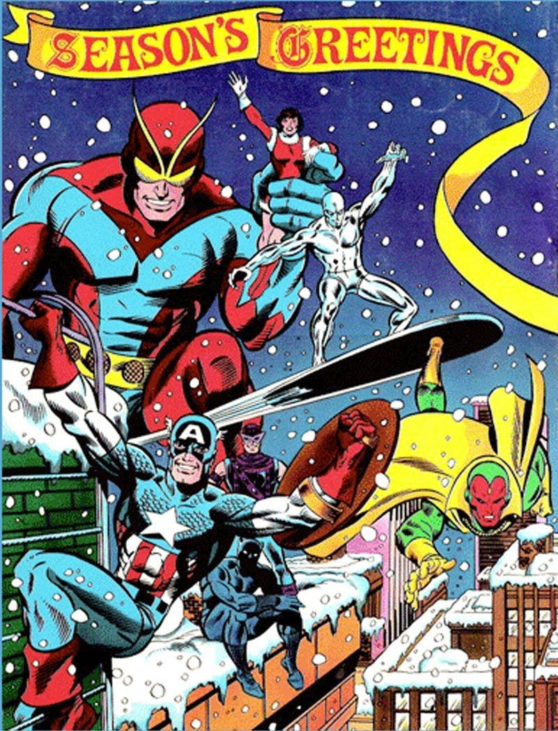 Weihnachtsbilder Comic.Season S Greetings From The Avengers And Silver Surfer Comics