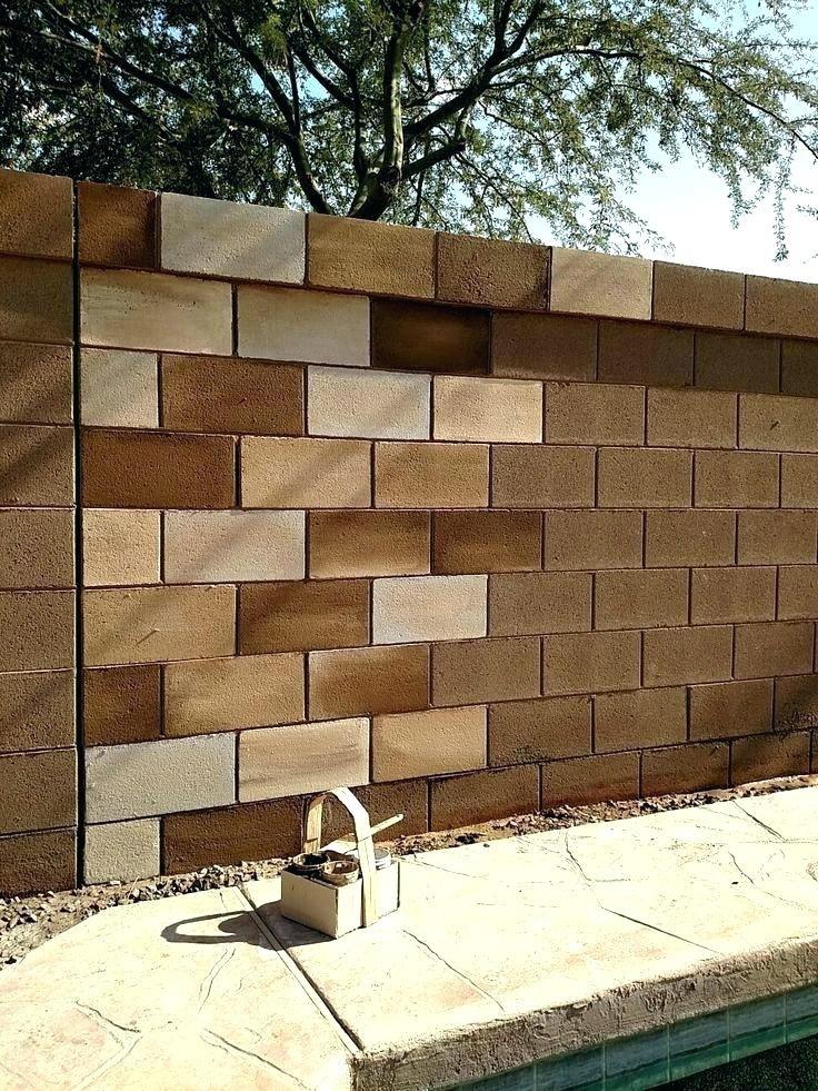Cinder Block Wall Ideas Fence