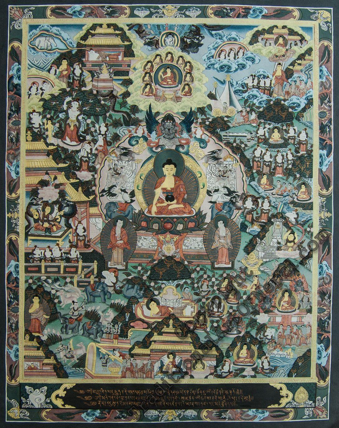 Buddha Life Painting   traditionalartofnepal.com