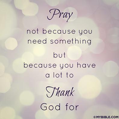 Thank God!