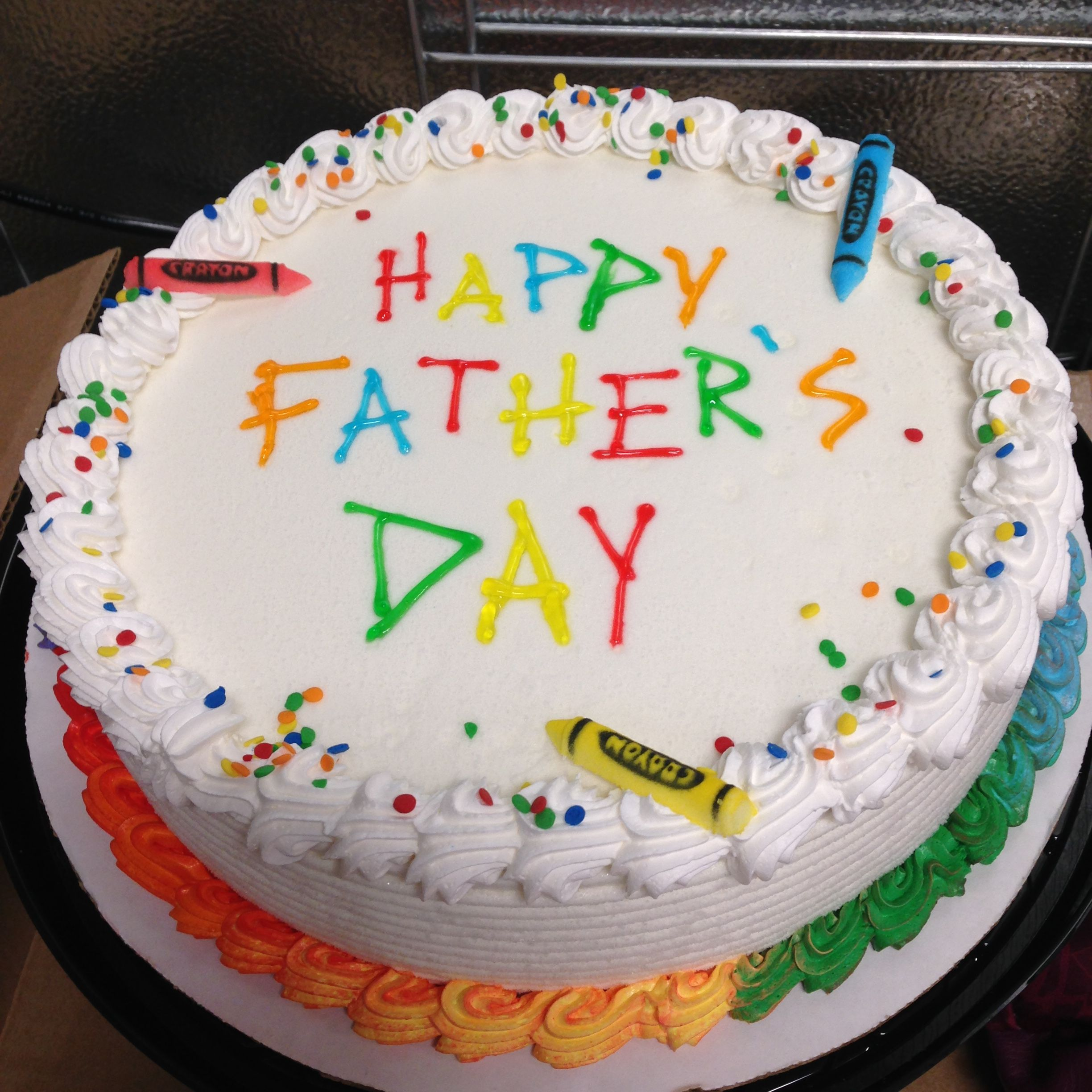Crayon Father S Day Dq Ice Cream Cake Buttercream Cake Designs