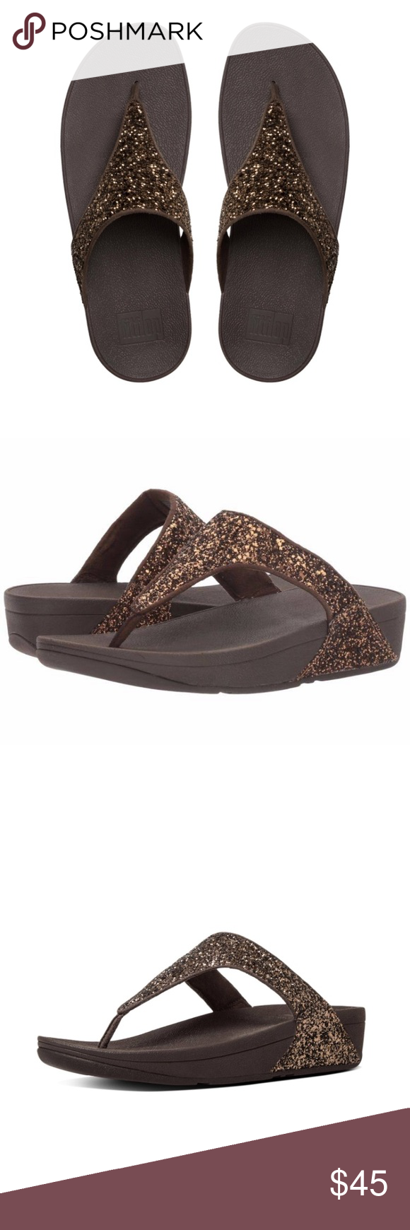 822b151f87ffb0  Fitflop Glitterball Toe-Post Sandals In Bronze 6 Sparkle and shine in  these bold Glitterball Toe Post sandals by Fitflop! Traction and  durability