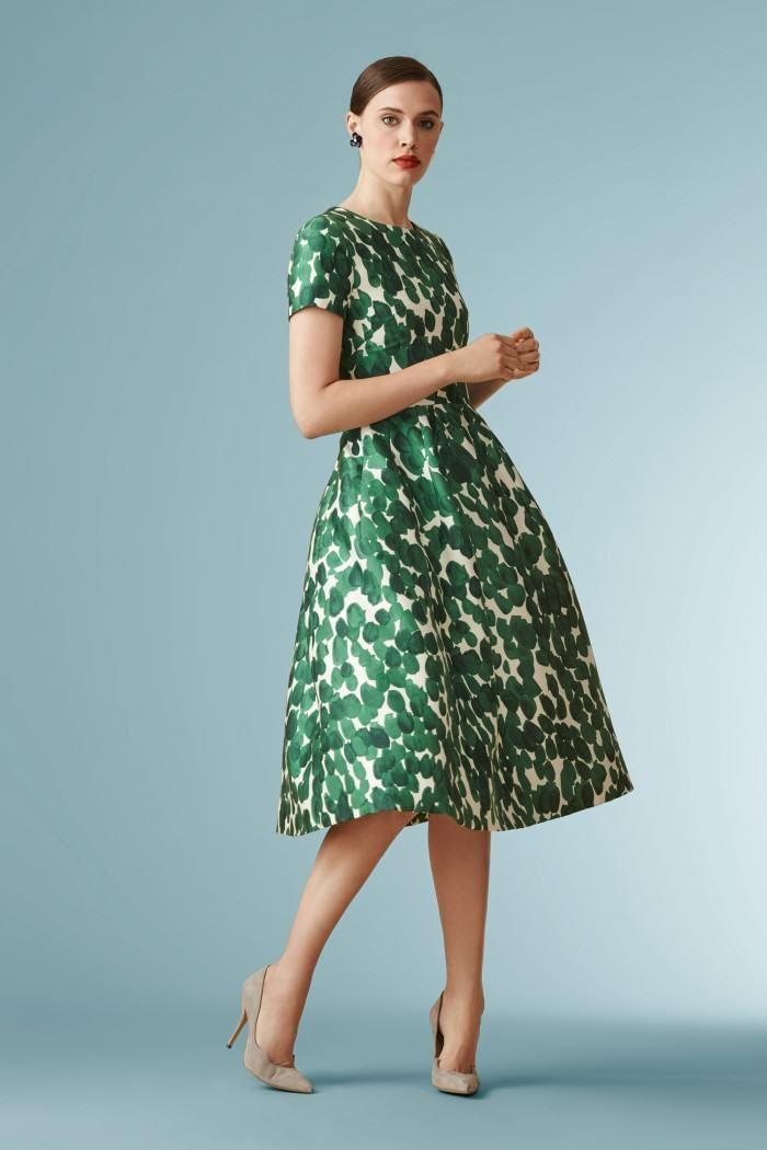 Beautiful Green And White Carolina Herrera Dress Carolinaherrera Partydress Fashion Midi Dress Casual Herrera Dress
