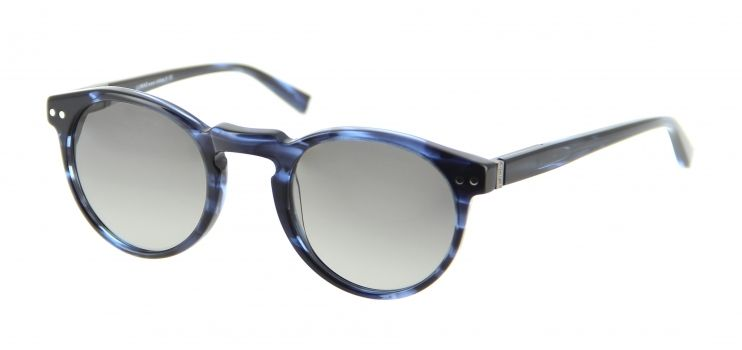 55a4a0c5ace5ef Lukkas - lunettes de soleil Mixte Lu s1403 ecbl bleu Monture ronde en  écaille bleu pour les Hommes à la recherche d un style Tendance et Chic.