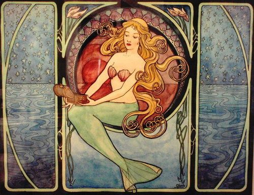 Art deco mermaid
