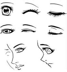 How To Draw A Pretty Sideview Lady With Big Eyes Cartoon Google
