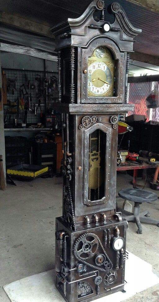 Steampubk grandfather clock steampunk pinterest for Steampunk kitchen accessories