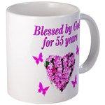 CHRISTIAN 55TH Mug http://www.cafepress.com/jlporiginals/12713642 #55thbirthday #55yearsold #Happy55thbirthday #55thbirthday #55thbirthdayidea #Christian55th  #happy55th
