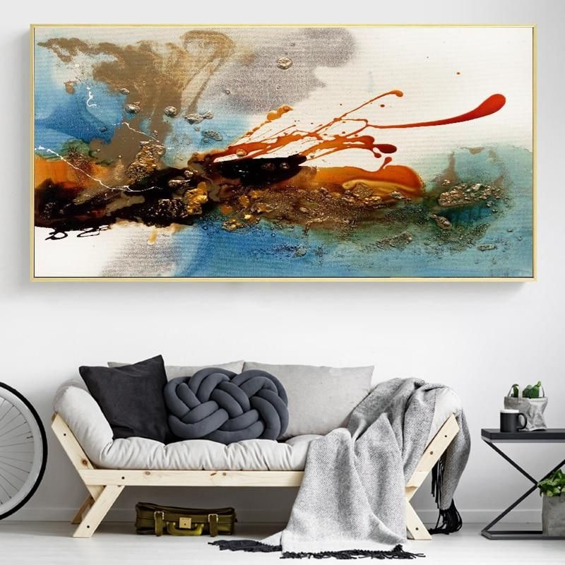 Colorful Rhythm Pictures For Living Room Decor No Frame Canvas Art Wall Decor Abstract Art Decor Wall Art Canvas Painting #paintings #with #frame #for #living #room