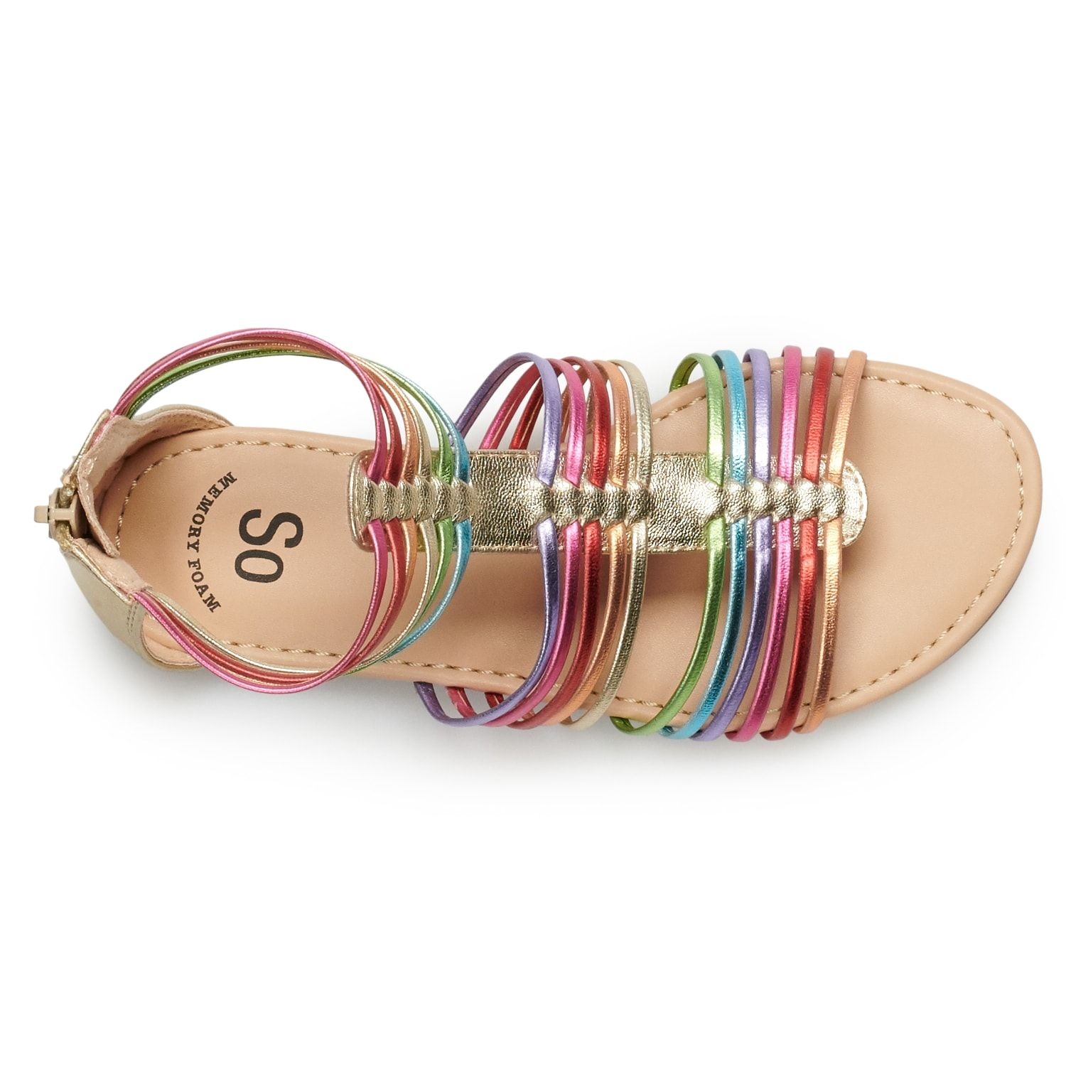 So Rainbow Girls Gladiator Sandals Rainbow Sandals Gladiator Sandals Shoe Size Chart Kids