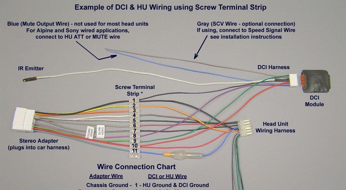 car radio wire harness wiring diagram with ir rockford