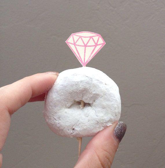 25 diamond ring donut picks for bridal showers bachelorette parties