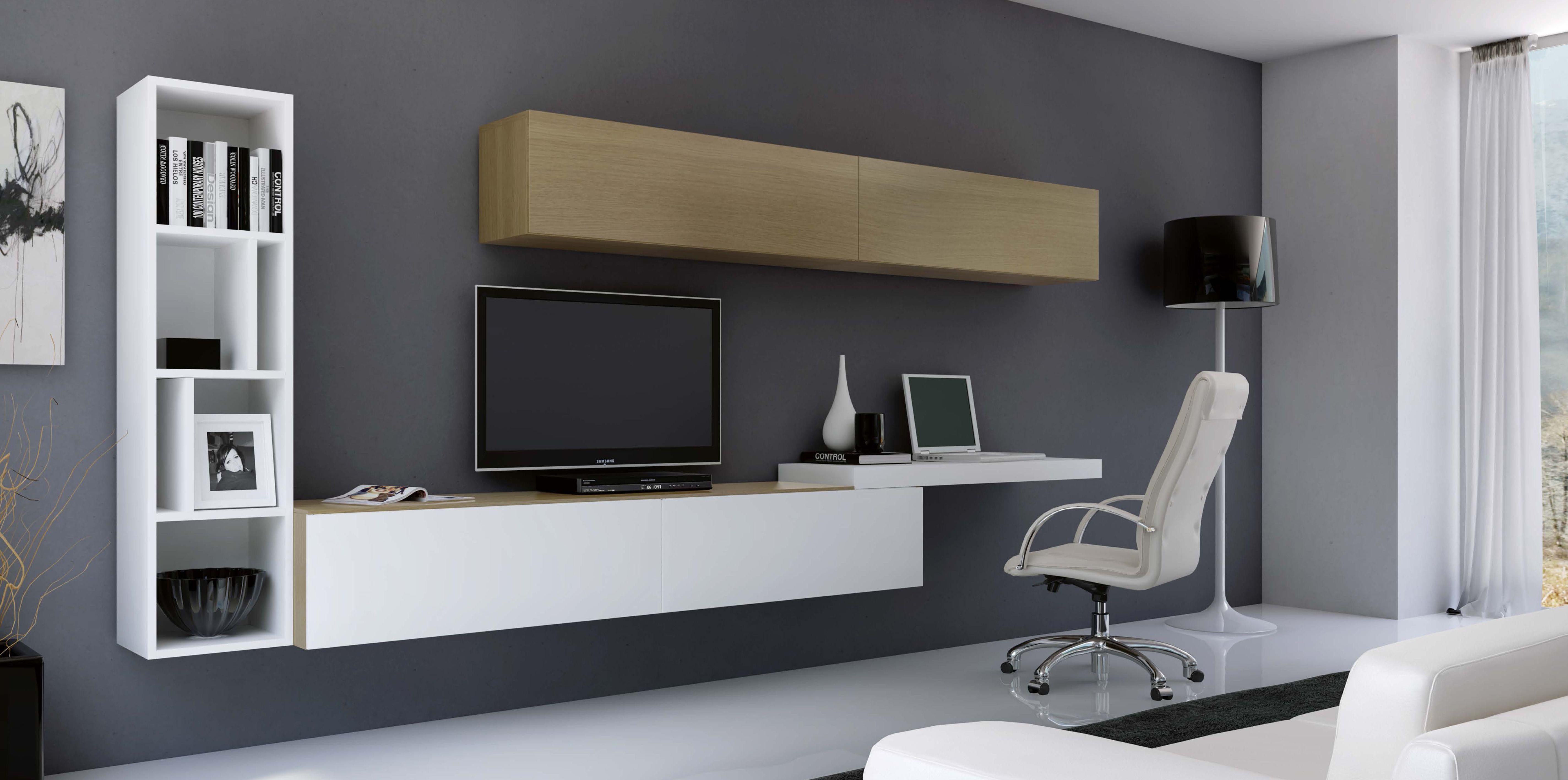 Muebles Tv Muueebleess Pinterest Mueble Tv Salon Comedor  # Muebles Suspendidos Para Tv