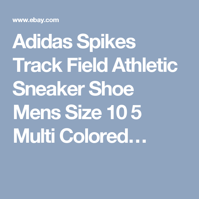 Adidas Spikes Track Field Athletic Sneaker Shoe Mens Size 10 5 Multi Colored…