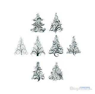 Christmas Tree Icon Logo Vector Cdr Tree Icon Vector Logo Vector
