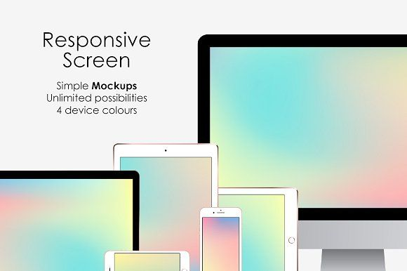 Download Responsive Screen Simple Mockups Set Responsive Screen Mockup Free Psd Mockup PSD Mockup Templates