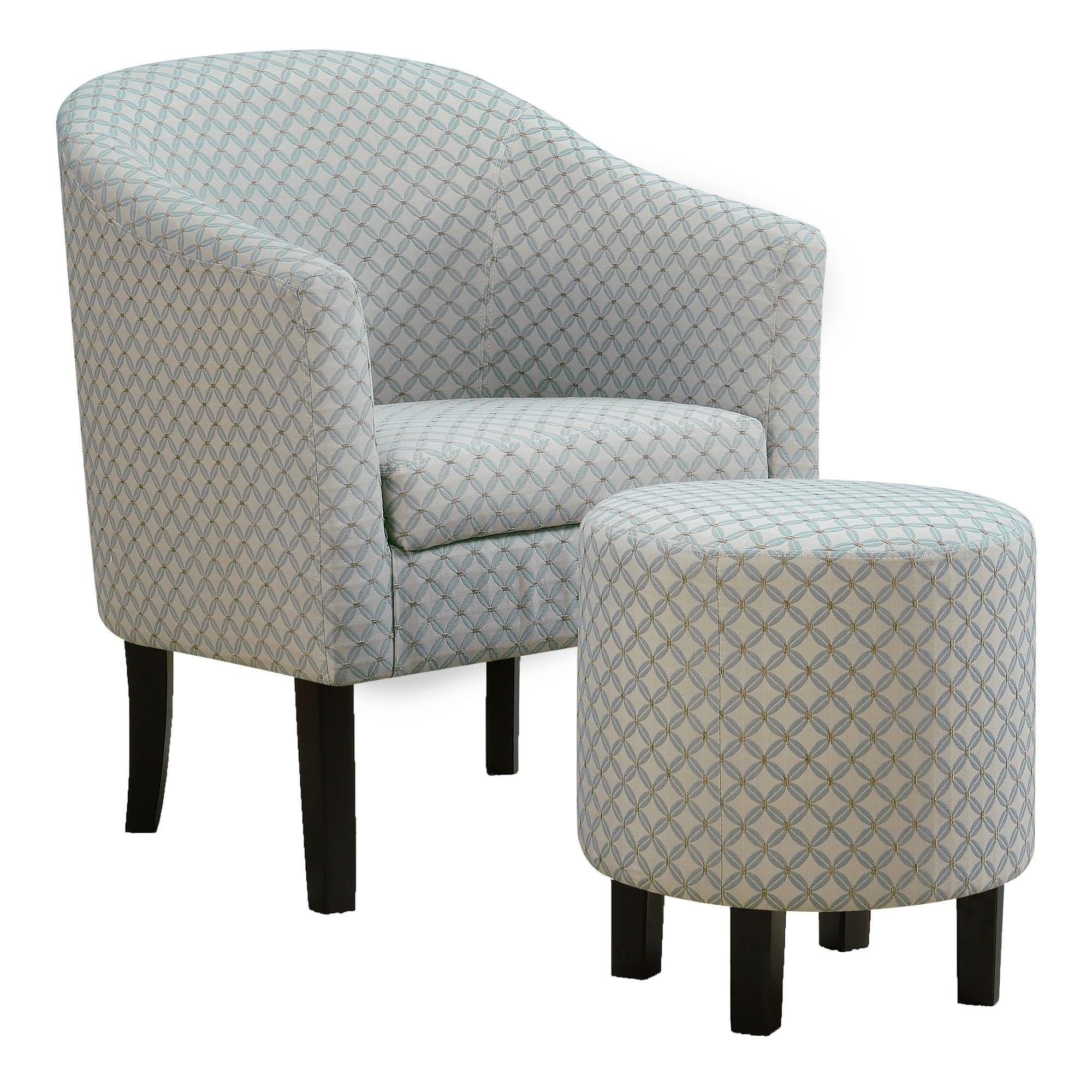 Best Accent Chair 2Pcs Set Light Blue Geometric Fabric 400 x 300