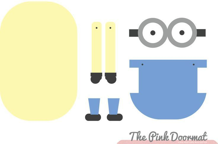picture about Minion Printable Cutouts called Minion Template Printable Banana Minions Absolutely free Outfit