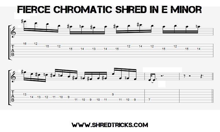 Fierce Chromatic Shred In E Minor - .:Shred Tricks - Shred Guitar ...
