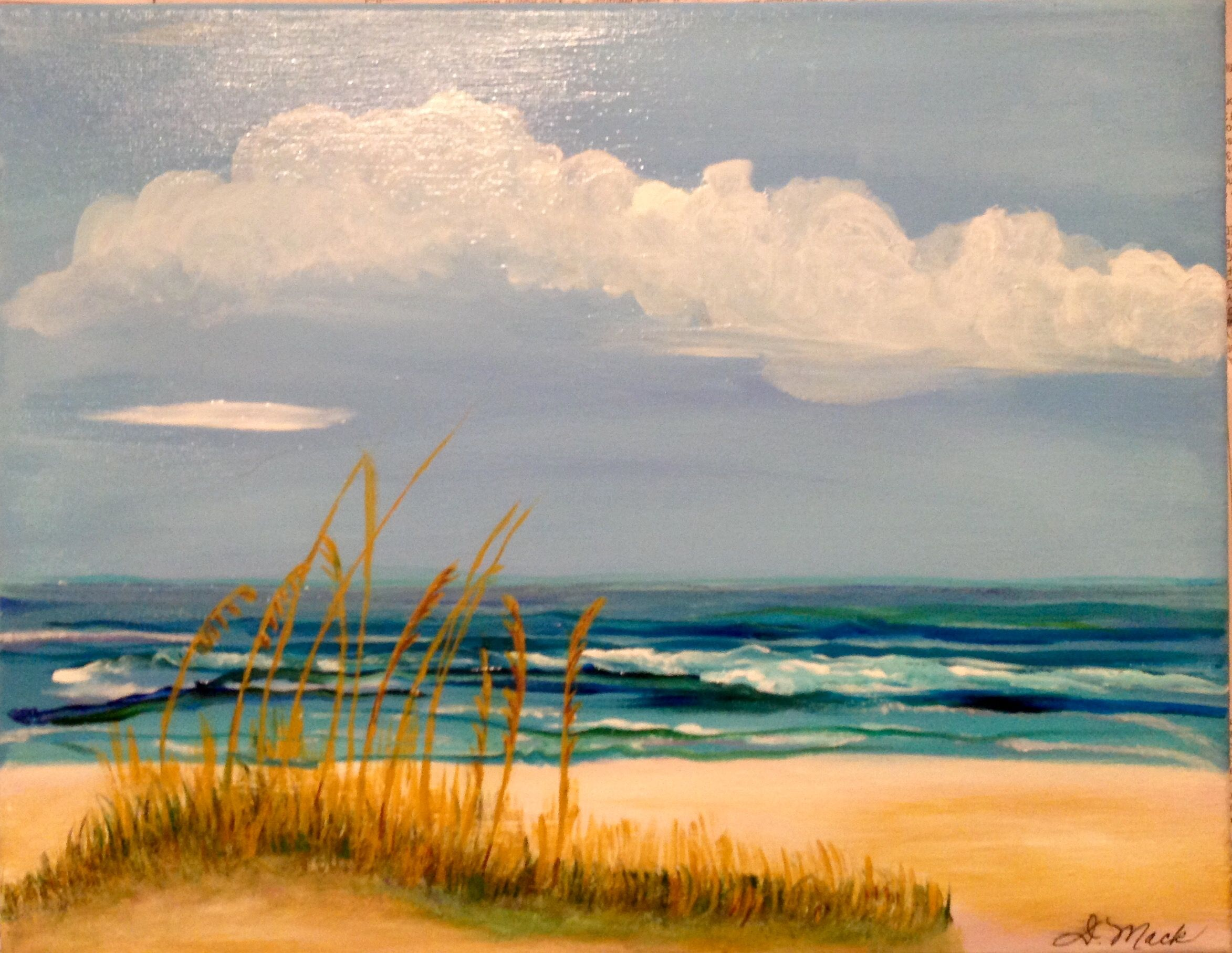"""Emerald Coast Vacation-11"""" x 14"""" Acrylic to Kelly and Jim March '16"""