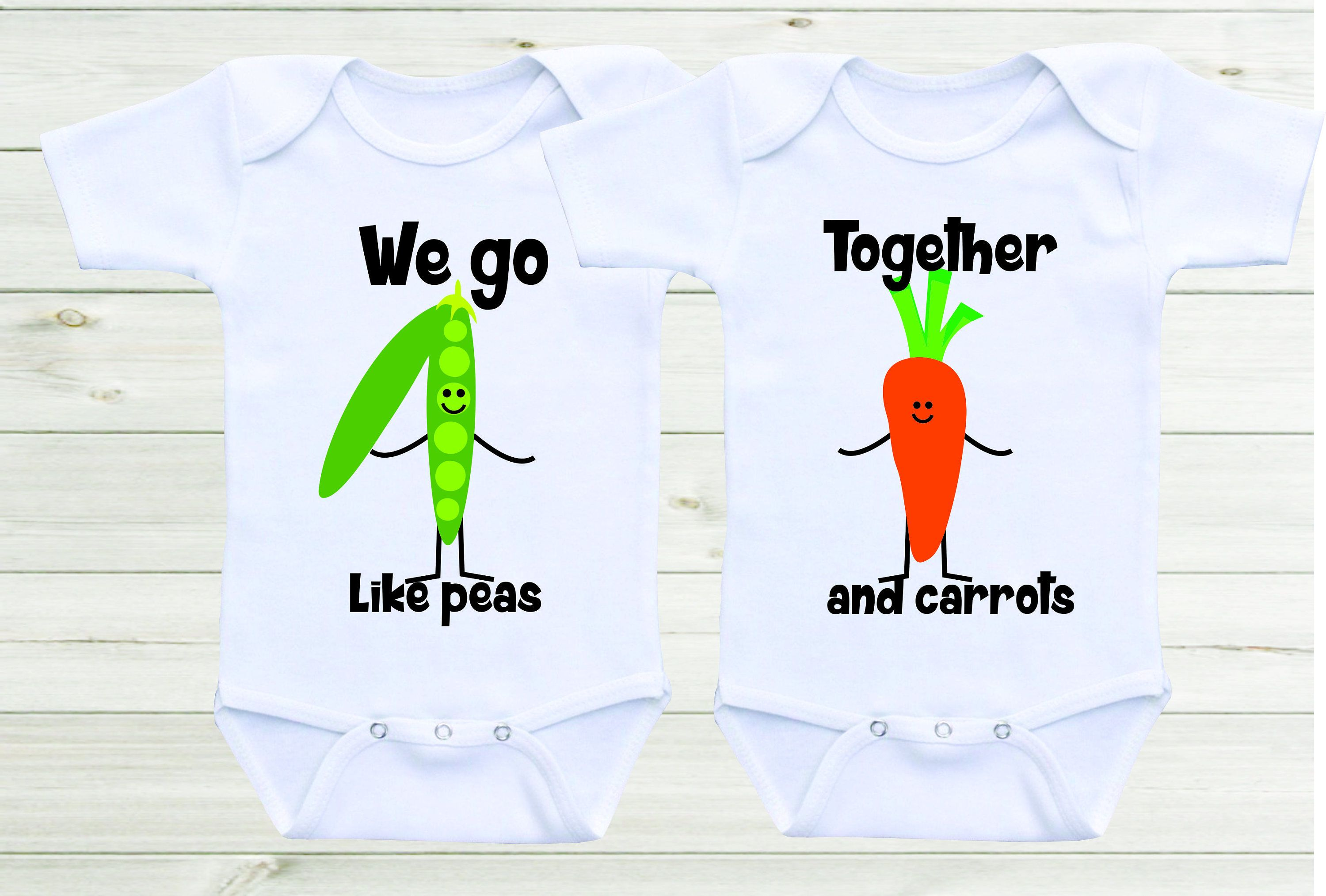 We go to her like peas and carrots Baby esies Twin esies Twin