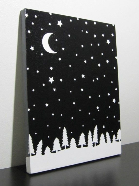Spray Paint Canvas Ideas Part - 43: Custom Canvas (using Stickers To Create Background And Then Spray Painting  It Before Removing Stickers