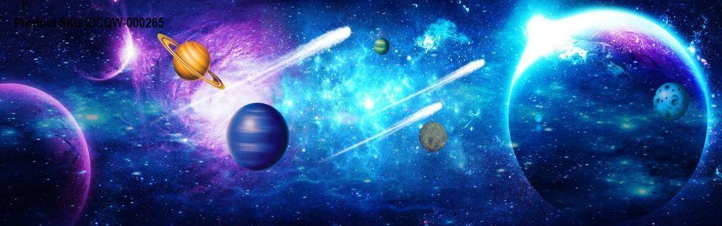3D Comet Stars Universe Ceiling Entire Living Room Business