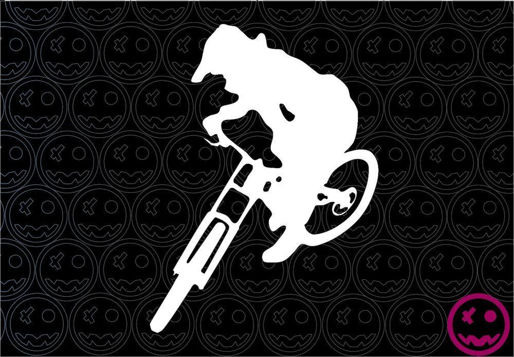 Downhill Trails MTB Sticker Decal 130mmW Bike Car Van Giant GT RockShoX