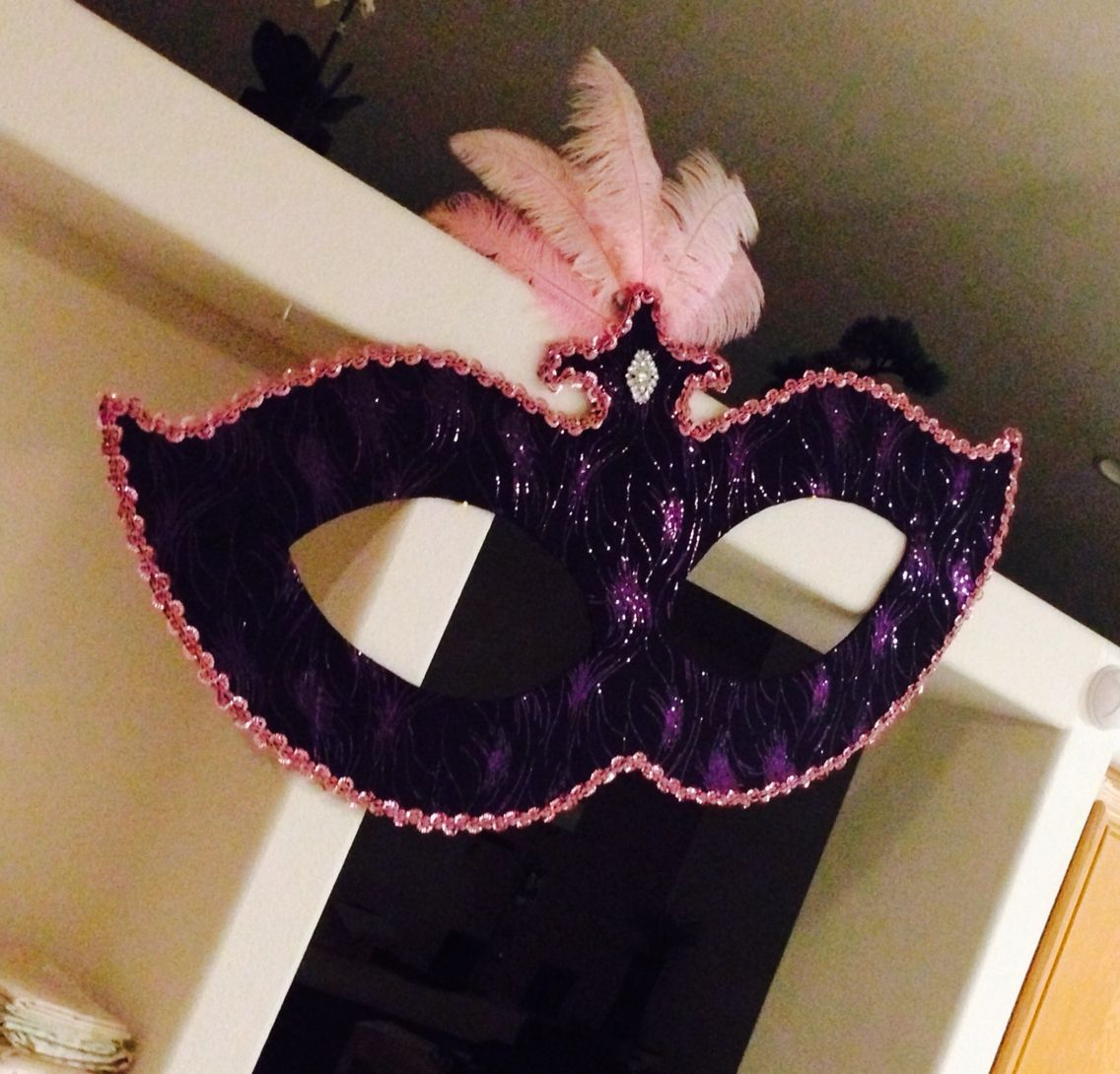 Large Masquerade Mask Hanging Decorations Made Using Cardboard
