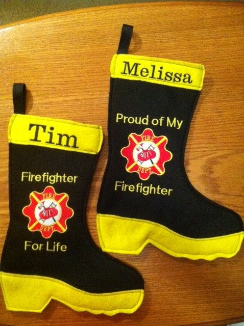 Firefighter Christmas Stocking.Firefighter Emt Or Medic Personalized Stocking Or Gift Bag