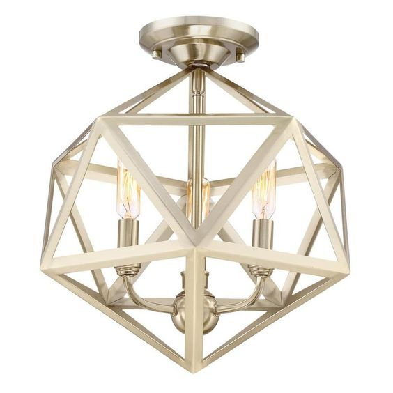 Quoizel liberty park 13 125 in w gold no glass semi flush mount light 100 semi flush ceiling lightsflush